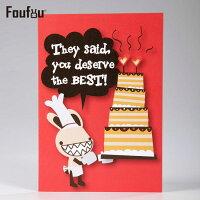 教師節禮物推薦到《Foufou》萬用卡片Card- You deserve the best