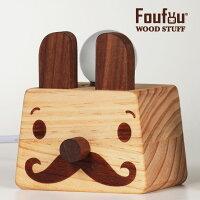 《Foufou》家飾木製品//夜燈 桌燈 床頭燈// 靈感來了登登燈-兩撇翹鬍
