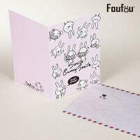 教師節禮物推薦到《Foufou》萬用卡片Card-Smile!Bunny Smile!