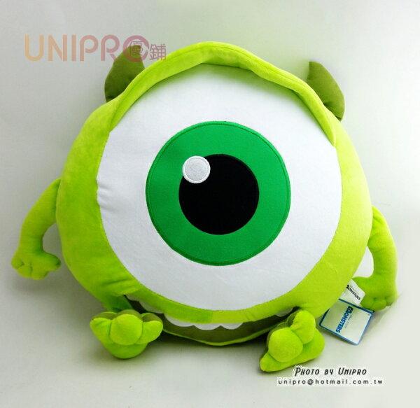 【UNIPRO】怪獸大學 大眼仔 Q版 抱枕 靠枕 午安枕 娃娃 玩偶 Mike Wazowski 迪士尼正版授權
