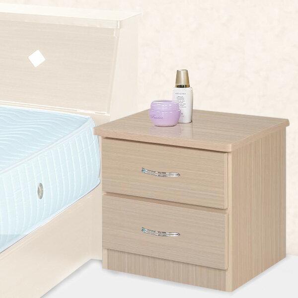 YoStyle 艾莉二抽床頭櫃^(二色 ^) 收納櫃 床邊櫃 置物櫃