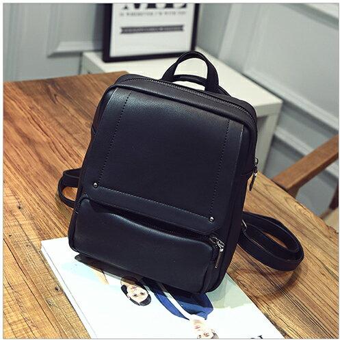 美麗新晴【SK7196】歐美休閒風外袋設計後背包/側背包 現+預