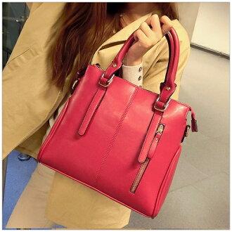 美麗新晴【SK9784】歐風時尚造型雙皮帶手提包/斜背包 0