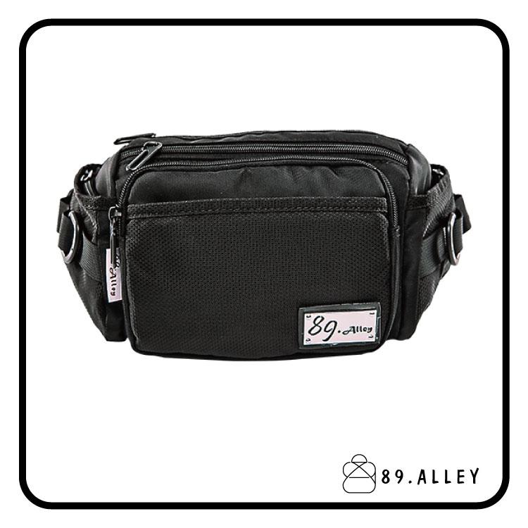 腰包 單肩包 女包男包 黑色系防水包 輕量尼龍立體多層情防搶包 89.Alley 0
