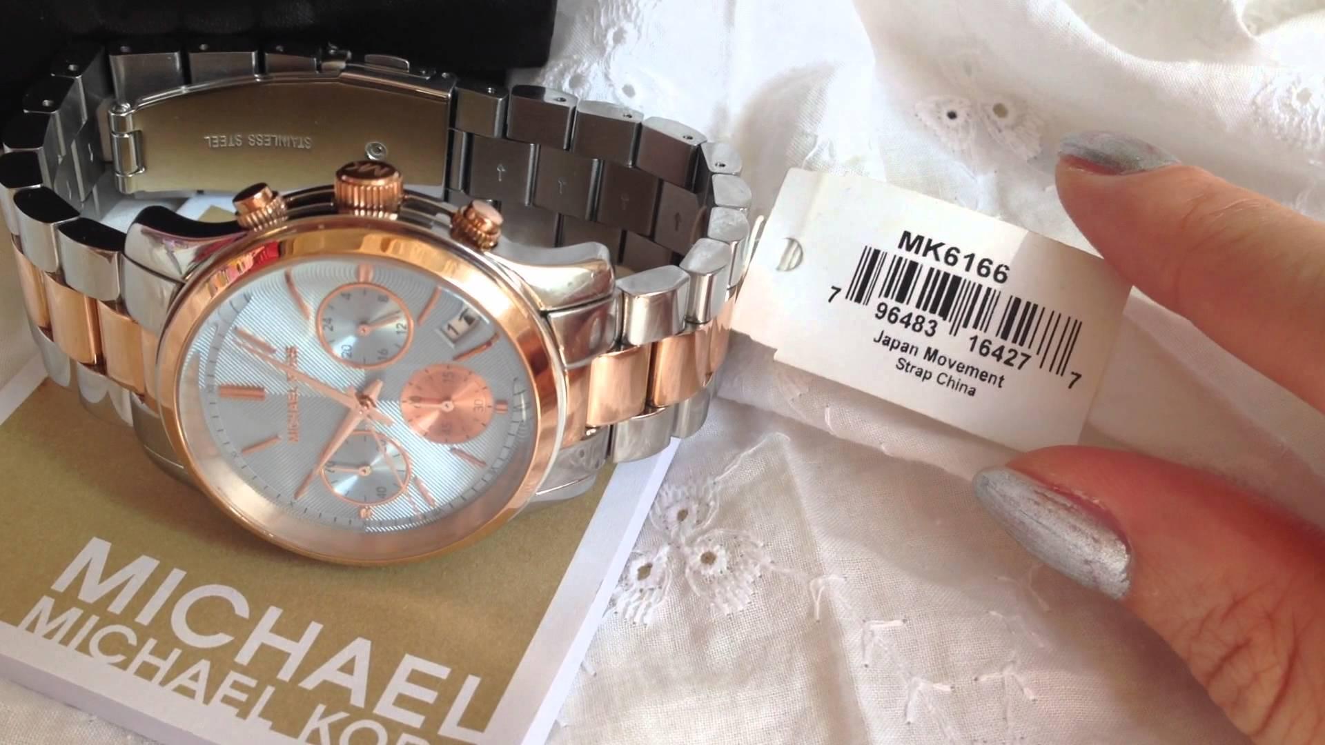 美國Outlet 正品代購 Michael Kors MK 三眼 雙色精鋼 滿鑽 手錶 腕錶 MK6166 6