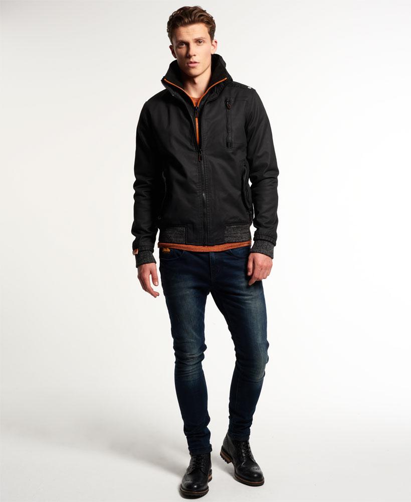 [男款]英國代購 極度乾燥 Superdry Moody Pilot短夾克 男士風衣戶外休閒 外套夾克防水防風保暖 黑色 2