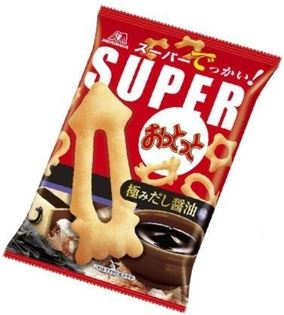 森永super小魚造型洋芋圈圈餅乾-醬油味 (55g)