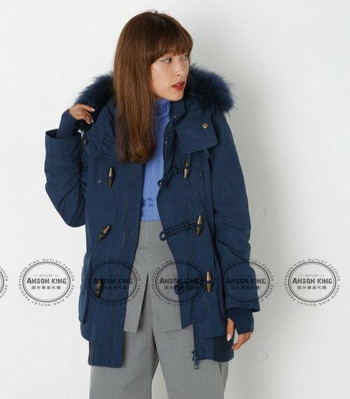 日本代購 正品 2016 SLY-N3B 牛角扣 秋冬新款 短版軍裝羽絨保暖連帽毛毛外套 四色可選 2