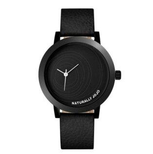 【海盜網】NATURALLY  JOJO韓版偏芯簡約女錶(尊貴黑)