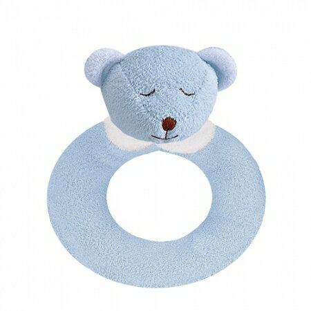 ★衛立兒生活館★Angel Dear 動物家族手搖鈴環 (藍色小熊)