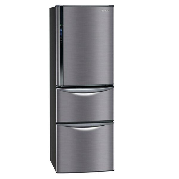 【國際牌Panasonic】ECONAVI 385L三門變頻電冰箱。極致黑/(NR-C387HV/NR-C387HV-K)
