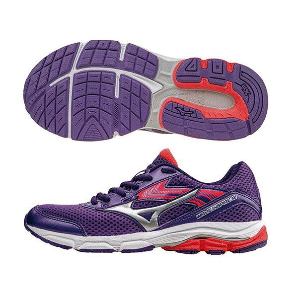 WAVE INSPIRE12 Jr. 支撐型童鞋 K1GC162705(紫X銀)S【美津濃MIZUNO】
