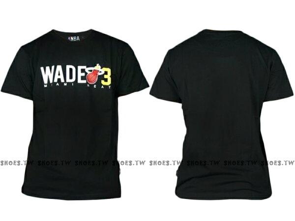 《換季折扣》Shoestw【8630234-002】NBA 背號T恤 邁阿密 熱火隊 WADE3 黑色