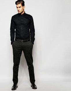 美國百分百【全新真品】Calvin Klein 襯衫 CK 男衣 上班 黑色 長袖 上衣 工作衫 專櫃款 S號 C615