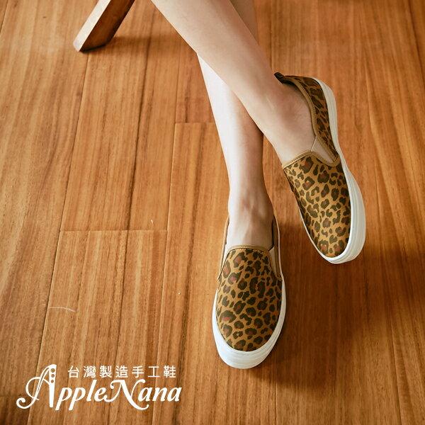 AppleNana。真皮印刷技限定發售。氣墊懶人樂福鞋【QT1202N1380】蘋果奈奈 0