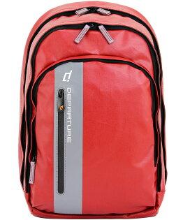 「雙肩後背包」行李箱拉桿 筆電包 防潑水材質×紅色 :: departure 旅行趣/ BP052