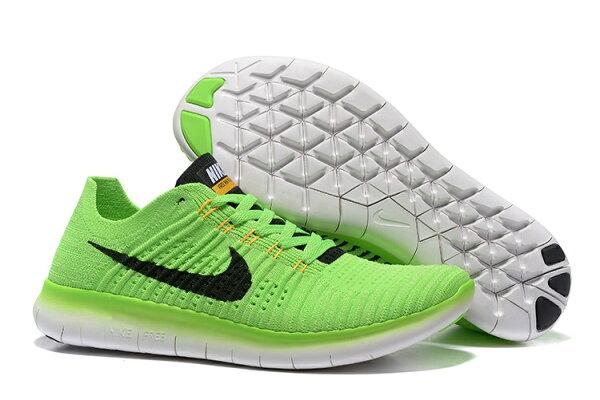 NIKE FREE RN FLYKNIT 慢跑鞋 5.0 針織飛線 運動鞋 男鞋 (蘋果綠黑 7-11)