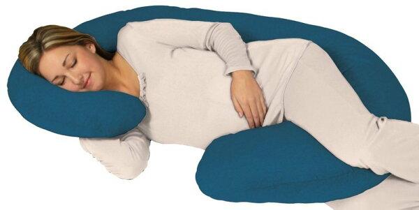 現貨 全新 Leachco Snoogle土耳其藍色 孕婦枕(枕心+100%純棉拉鍊式枕套)