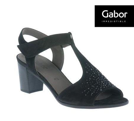 Gabor 鑽飾T字型中低跟鞋 0