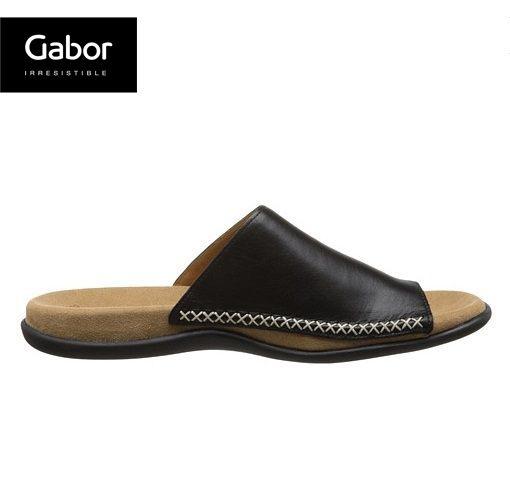 Gabor 歐美時尚夾趾涼拖鞋 黑 3