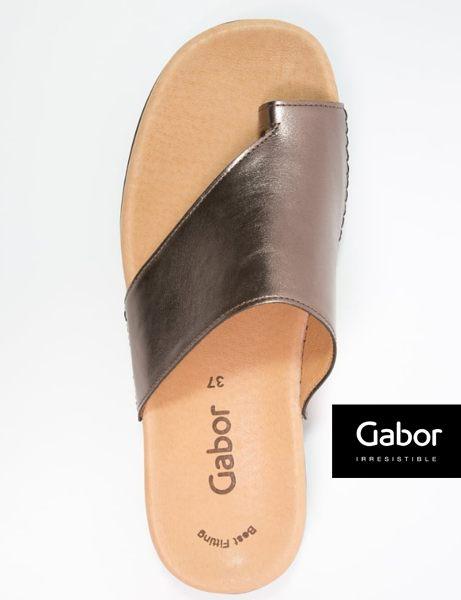 Gabor 歐美時尚夾趾涼拖鞋 銀 3