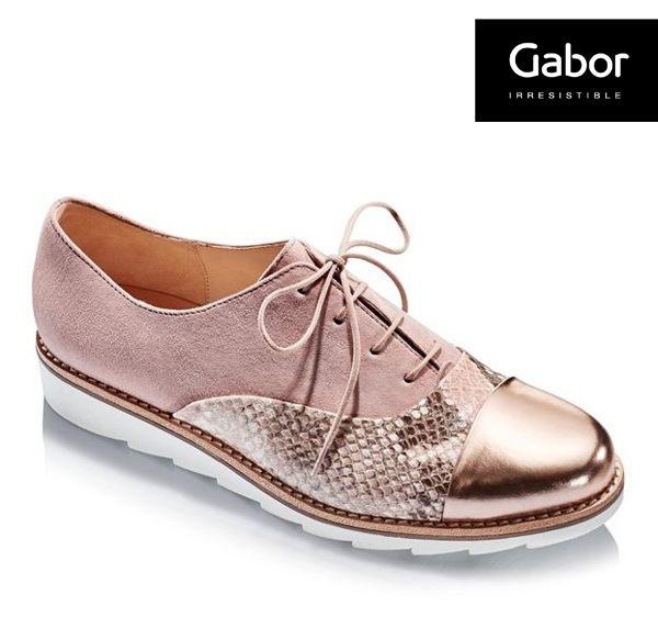 Gabor 動物紋拼接金屬休閒鞋 0