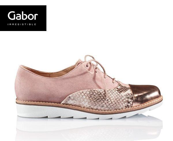 Gabor 動物紋拼接金屬休閒鞋 1