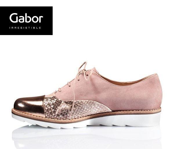 Gabor 動物紋拼接金屬休閒鞋 2