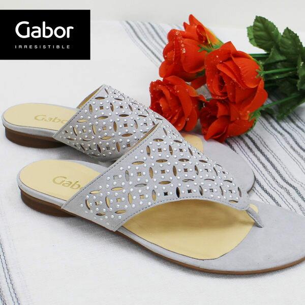 Gabor 鑽飾夾腳涼拖鞋 白 2