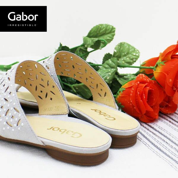 Gabor 鑽飾夾腳涼拖鞋 白 3