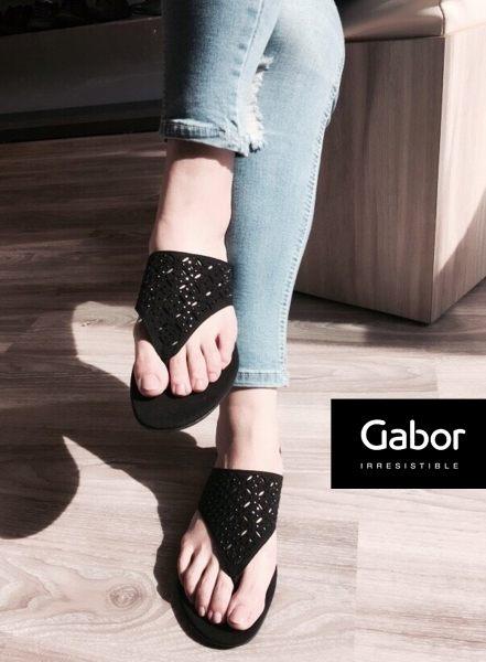 Gabor 鑽飾夾腳涼拖鞋 白 4