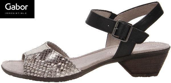 Gabor 85折! 現代感蛇紋扣飾低跟涼鞋 0