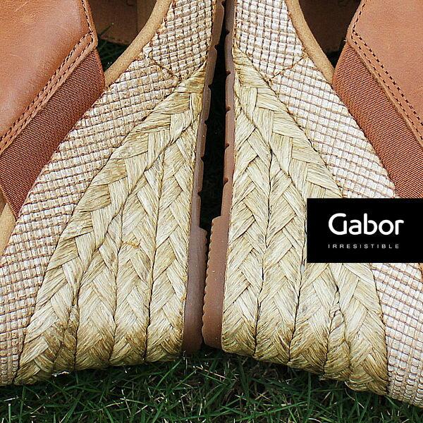 Gabor 皮革交叉帶楔型涼鞋 2