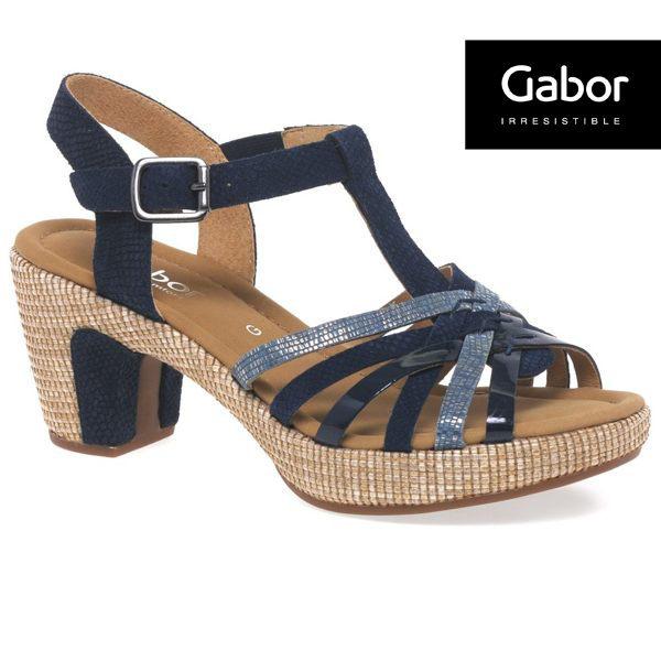 Gabor 真皮簍空編織現代感涼鞋 0