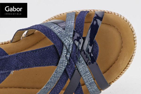 Gabor 真皮簍空編織現代感涼鞋 1