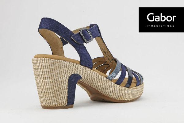 Gabor 真皮簍空編織現代感涼鞋 2