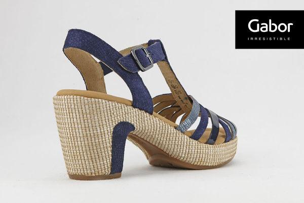 Gabor 真皮簍空編織現代感涼鞋 3