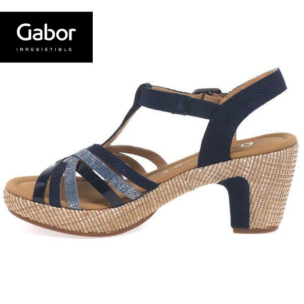 Gabor 真皮簍空編織現代感涼鞋 4