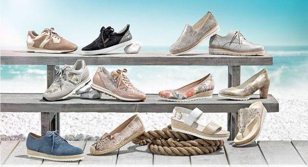 Gabor 修身輕躍 時尚金屬扣飾楔型涼鞋 深靛藍 3