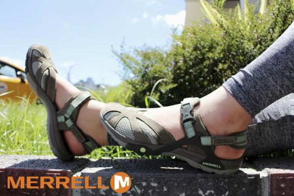 MERRELL AZURA WRAP 多 涼鞋 軍綠 健行鞋│休閒鞋│水陸兩棲 ~  好康