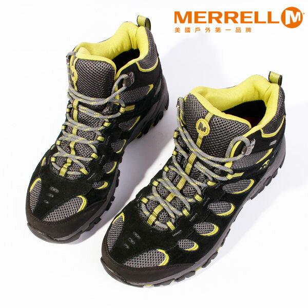 MERRELL RIDGEPASS MID GORE-TEX®多功能健行系列 黃 男 防水登山鞋│健行鞋│休閒鞋 0