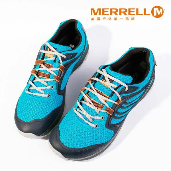 Merrell 戶外健行系列 男 藍 0