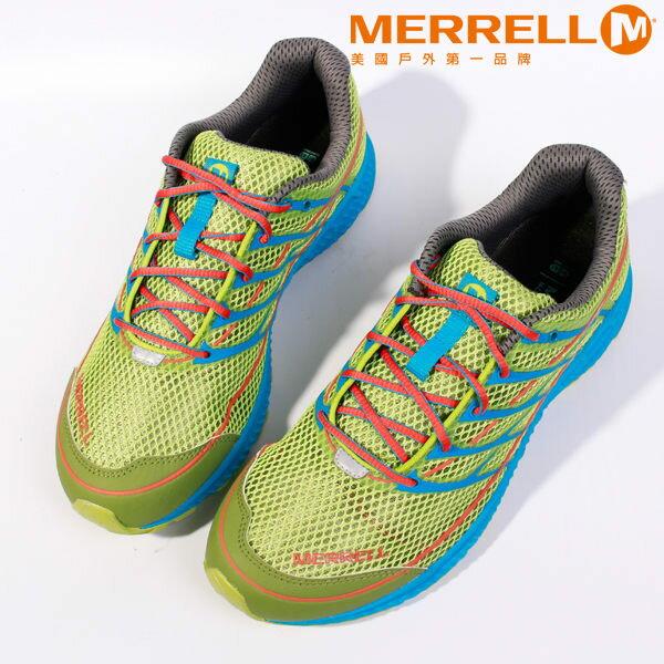 MERRELL 多功能越野跑系列 螢光綠 男 健行鞋│休閒鞋 0