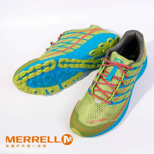 MERRELL 多功能越野跑系列 螢光綠 男 健行鞋│休閒鞋 3