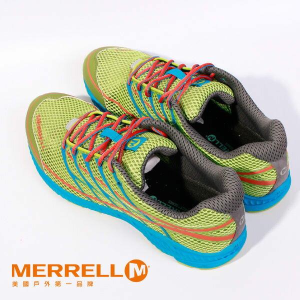 MERRELL 多功能越野跑系列 螢光綠 男 健行鞋│休閒鞋 4