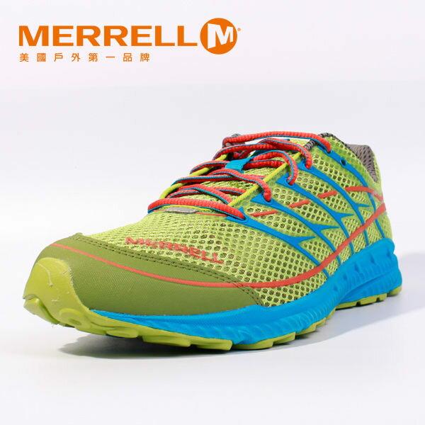MERRELL 多功能越野跑系列 螢光綠 男 健行鞋│休閒鞋 5