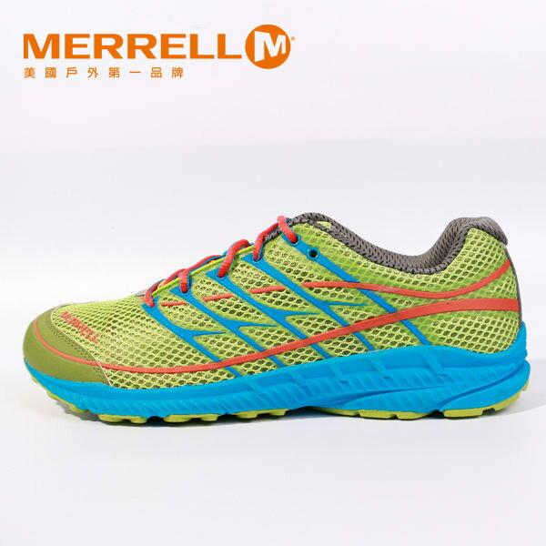 Merrell 多功能越野跑系列 螢光綠 男 6