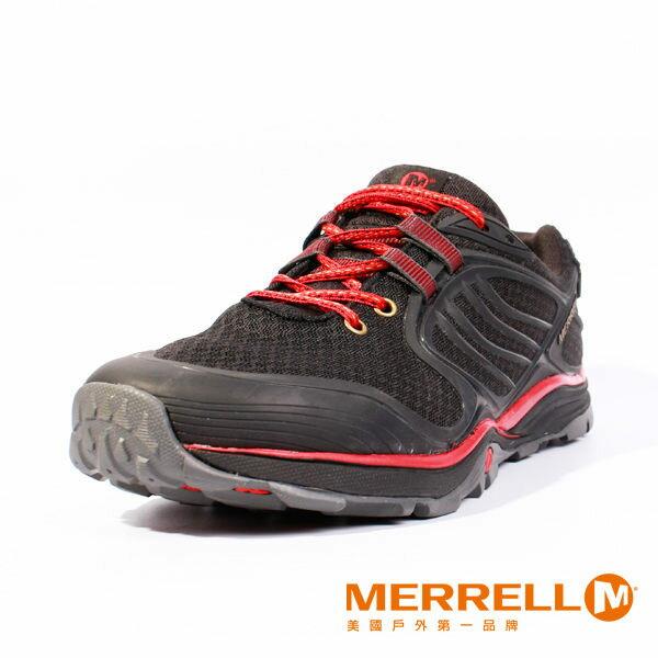 Merrell 戶外健行系列綁帶休閒鞋 黑紅 女 0