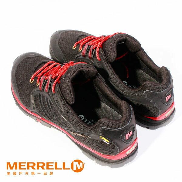 Merrell 戶外健行系列綁帶休閒鞋 黑紅 女 6