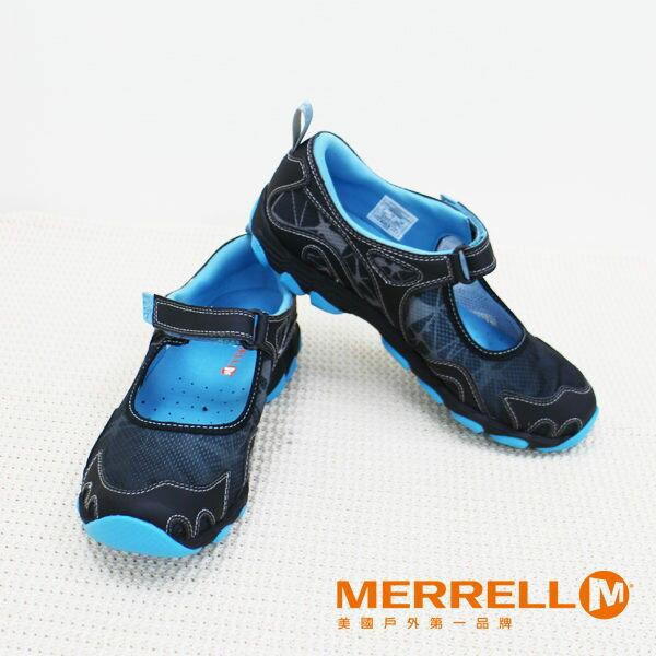 Merrell女水陸兩棲運動鞋 深藍 3